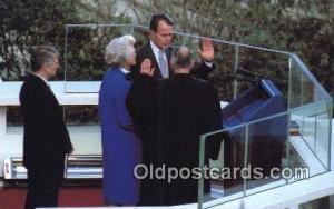 Oath of office George Bush 41st President Postcard Postcards  Oath of Office