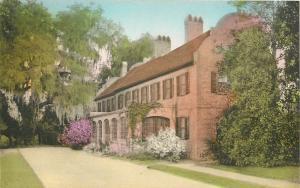 Charleston South Carolina~Middleton Place Gardens~Tudor House~Hand-Colored~1930s