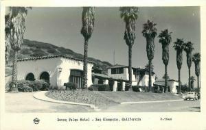 Frasher 1940s Seven Palms Motel San Clemente California RPPC Photo Postcard 3433