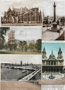 United Kingdom - London Postcard Lot of 46 RPPC and Printed  -  01.02
