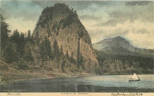 Castle Rock Columbia River Oregon hand colored Wortman King 1907 Postcard 6780