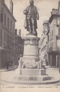 La Statue De Diderot, Diderot's Memorial, LANGRES (Haute Marne), France, 1900...