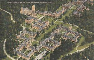 DURHAM, North Carolina, 30-40s; Aerial View of Duke University