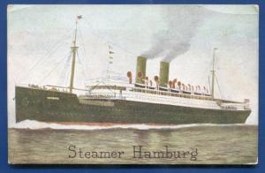 Steamer Hamburg Ocean Liner passenger 1911 DPO postmark Venus NE postcard