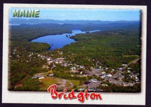 ME Aerial City Highland Lake BRIDGTON MAINE Postcard