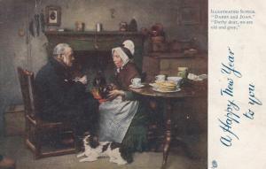 A Happy New Year, Old Couple having Tea , 00-10s ; TUCK 1631