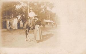 Tulsa OK~Hallie Whittenhall~Cowgirl~Fair Tents~Baseball Game~July 1908 RPPC
