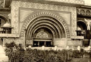IL - Chicago. 1893 Columbian Exposition. Adler & Sullivan's Golden Entrance t...
