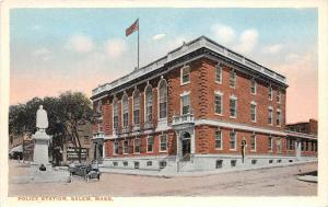 25937 MA, Salem 1920, Police Station, monument out front