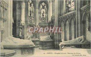 Old Postcard Dreux Chapelle St Louis Circumference Choir