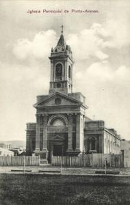 chile, PUNTA ARENAS, Iglesia Parroquial (1910s) Postcard