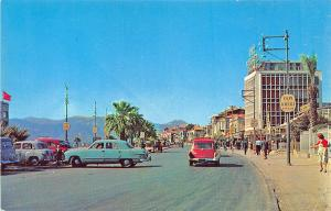 Izmir Turkey Karsiyaka District Street View Old Cars Postcard