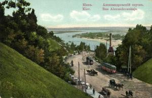 ukraine russia, KIEV KYIV, Alexandrowskaja Street, Tram (1910s)