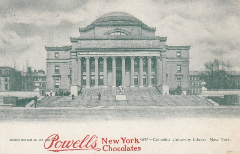 NEW YORK CITY , 1908 ; Columbia University Library