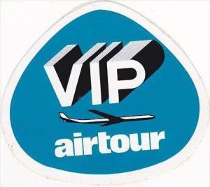 VIP AIR TOUR VINTAGE AVIATION LABEL