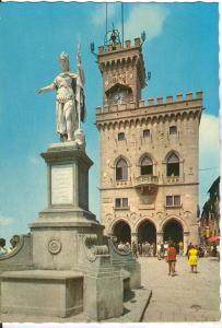 Republic of San Marino, Regents' Palace and Statue of Freedom, unused Postcard