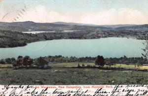 Lake Waukewan, New Hampshire, from Meredith Neck, Early Postcard, Used in 1906