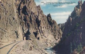 Railroad Tunnel at Gore Canyon Denver & Salt Lake RR Moffat Road CO Colorado DB