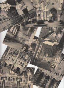 Lot 8 postcards Budapest Hungarian Parliament Building interior Hungary