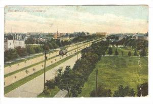 Bird's Eye View, Broadway Avenue, Street car, Winnipeg, Manitoba, Canada, 00-10s