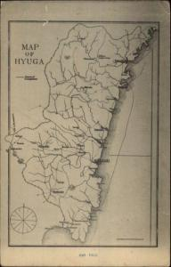 Hyuga Miyazaki Japan MAP c1915 Postcard