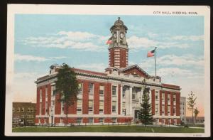 Postcard Unused City Hall Hibbing MN LB