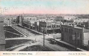 Willmar Minnesota~Birdseye View Downtown Main Street~WM Chase 1912 Postcard