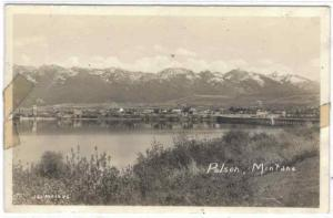rppc - Montana - Polson - Panorama - View Of Town - C-40-50