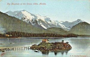 SITKA ALASKA~THE MOUNTAIN OF THE CROSS~1909 E W MERIRILL PHOTOGRAPHER POSTCARD