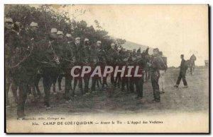 Camp Coetquidan Old Postcard Before firing L & # 39appel celebrities (militaria)