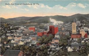 D68/ Clarksburg West Virginia WV Postcard c1910 Birdseye View Homes Buildings