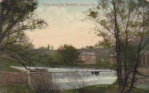 Pennsylvania Easton View Along The Bushkill
