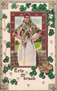 SAINT PATRICK'S DAY, PU-1911; Irish Woman, Erin Go Brach