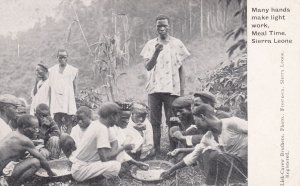 SIERRA LEONE, Africa, 1900-10s; Meal Time