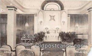 The Altar, SS Paris French Line Ship Postcard Post Card 1933