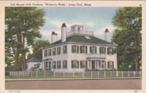 Massachusetts Cape Cod Old House With Famous Widow's Walk