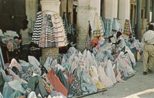 PORT AU PRINCE, Haiti, 40-60s; Street Scene, Fabric Vendor