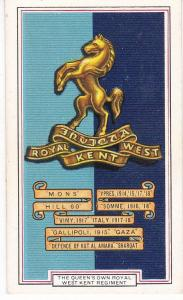 Cigarette Cards Gallaher ARMY BADGES No 4 Queen's Own Royal West Kent Regt