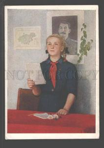 097099 USSR STALIN pioneers leader by Mariupolskiy Old PC