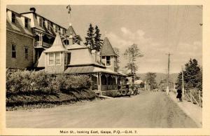 Canada - Quebec, Gaspe. Main Street