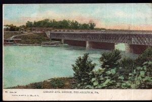 Pennsylvania PHILADELPHIA Girard Avenue Bridge - Undivided Back Und/B