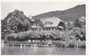 Switzerland Thunersee Hotel Pension Schoenau Real Photo sk4284