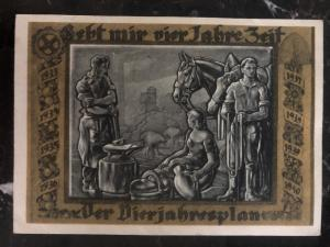 1937 Braunschweig Germany picture Postcard cover the four year plan