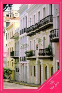 Puerto Rico Old San Juan Typical Street Scene