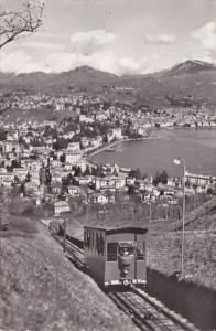 Switzerland Lugano Funicolare del Monte San Salvatore 1957 Photo
