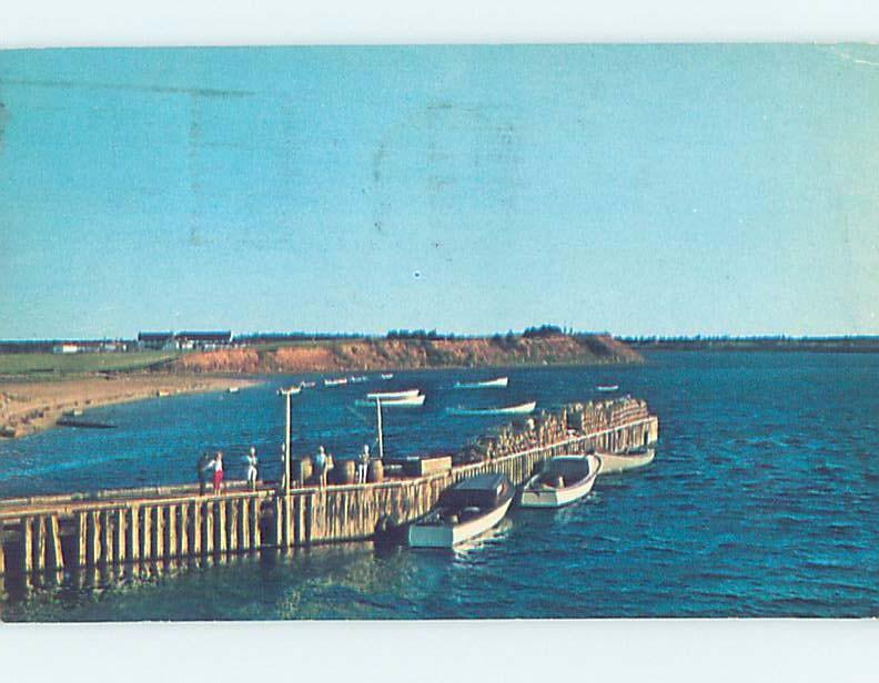 Pre-1980 BOATS AT BOAT DOCK Covehead - Near Charlottetown PE F4571