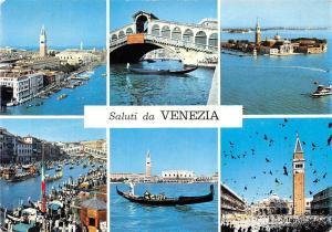 Italy Saluti da Venezia, different views, gondolas, animated, birds