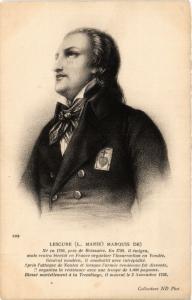 CPA LESCURE (L. MARIE) MARQUIS DE). Militaire (287274)