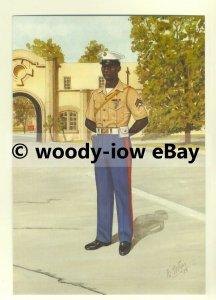 su1463 - US Marine Corps Security Force Corporal  artist Bryan Fosten - postcard