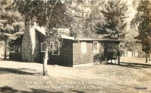 1946 Cabin Florence Kamberling Pine River Minnesota RPPC real photo 9212